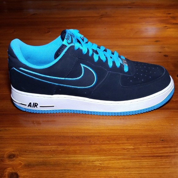 Nike AF1 Low Black and Turquoise. Mens Size 10.5.
